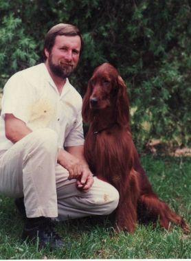 Jim Gossage with Ch Meadowlarks Energizer (Imp USA)