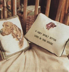 irish setter sighting cushions