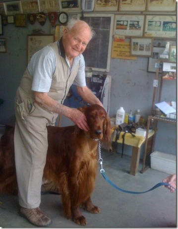 House Inspection - Famous dog chiropractor, George Schofield OAM, inspecting for injury