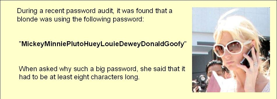BLONDE PASSWORD