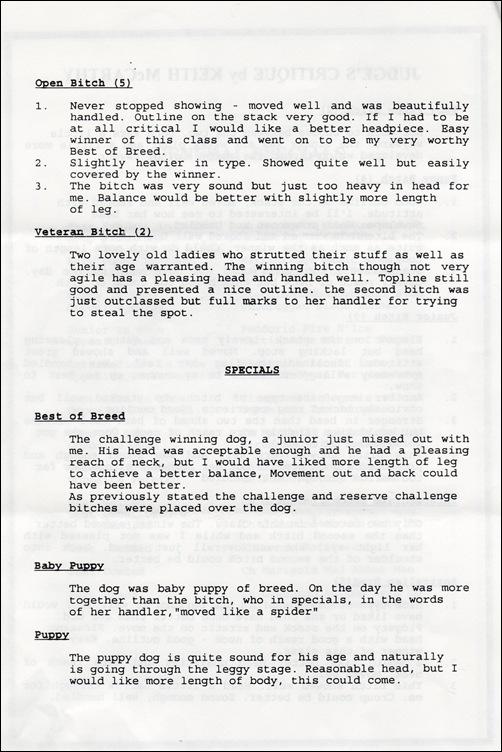 ISCV 1994 Champ Show  Critique 2