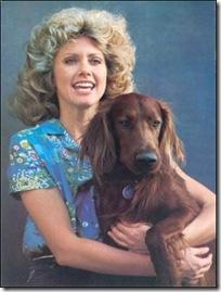 Olivia Newton John with Jack